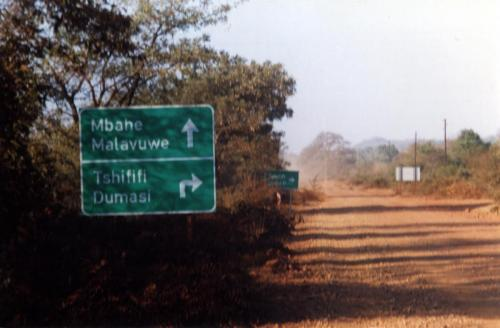Road sign to Mbahe Village where Benedict lived and died